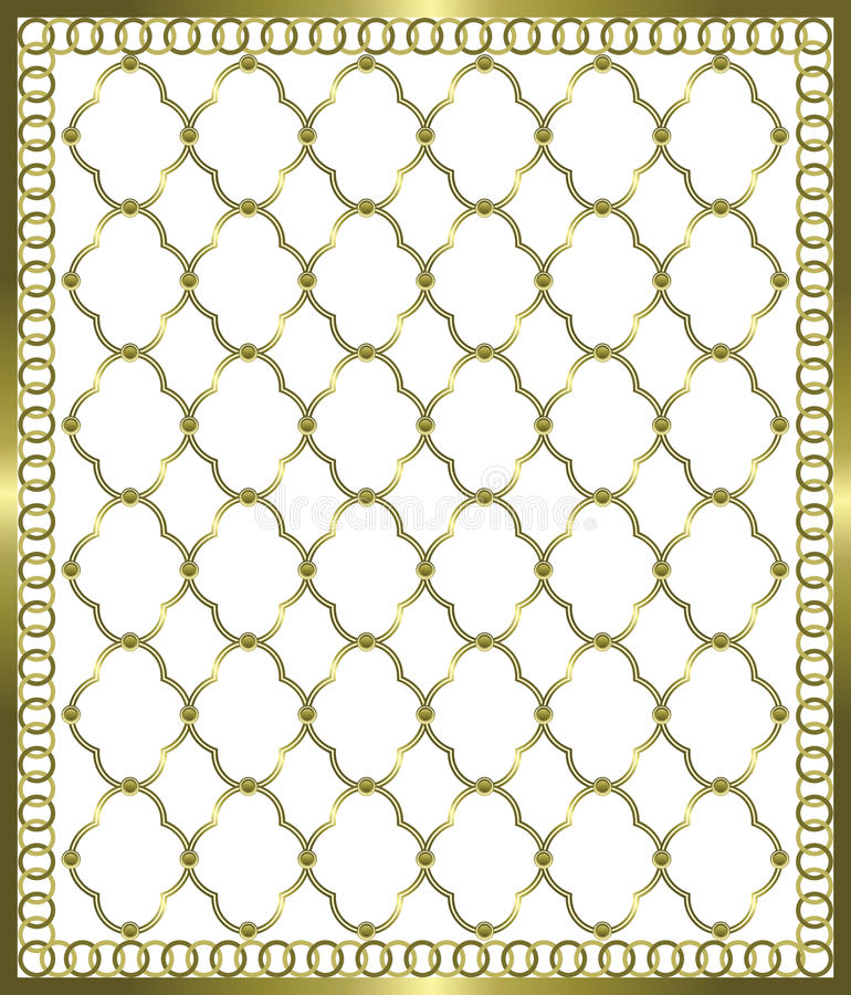 Gold Grid Stock Images