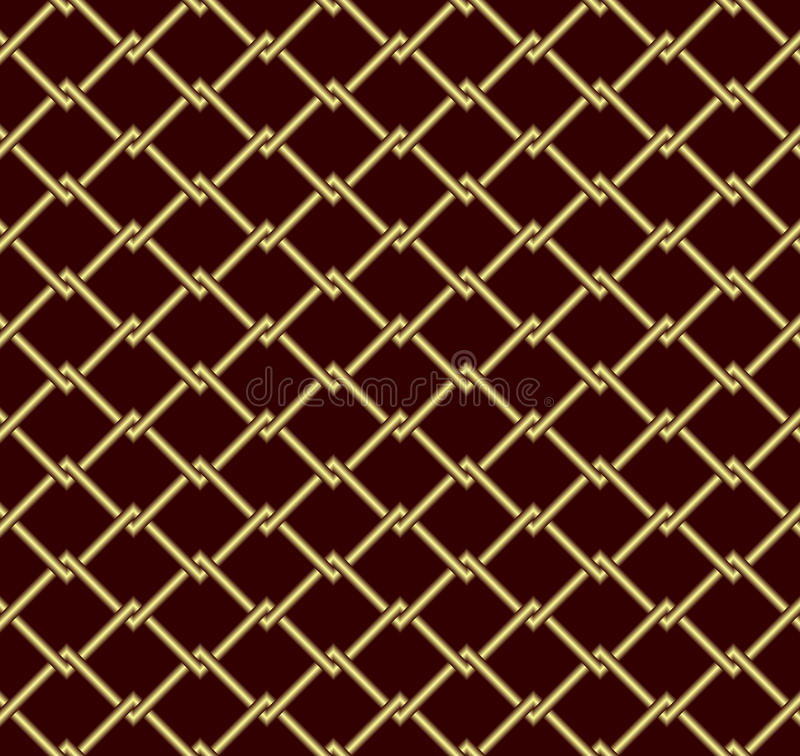 Gold grid. Seamless abstract background. Gold grid on a dark red background vector illustration