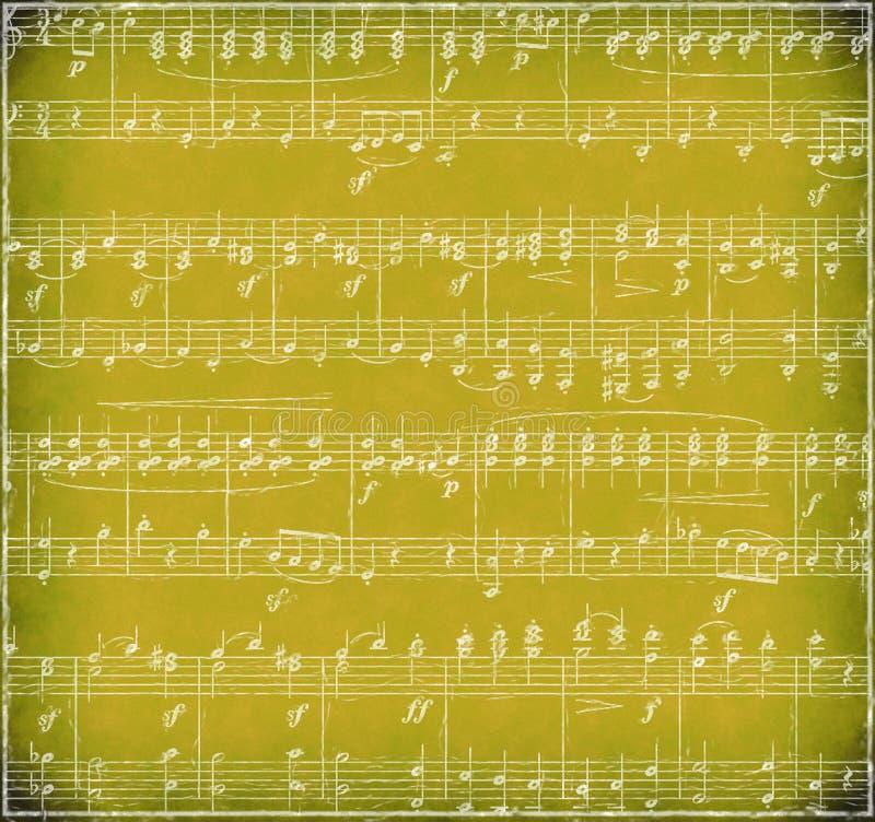 Gold Grunge Music Background royalty free stock photo