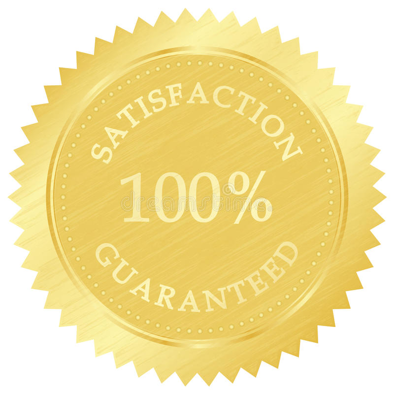 Gold guarantee stamp. Vector illustration of gold guarantee stamp royalty free illustration