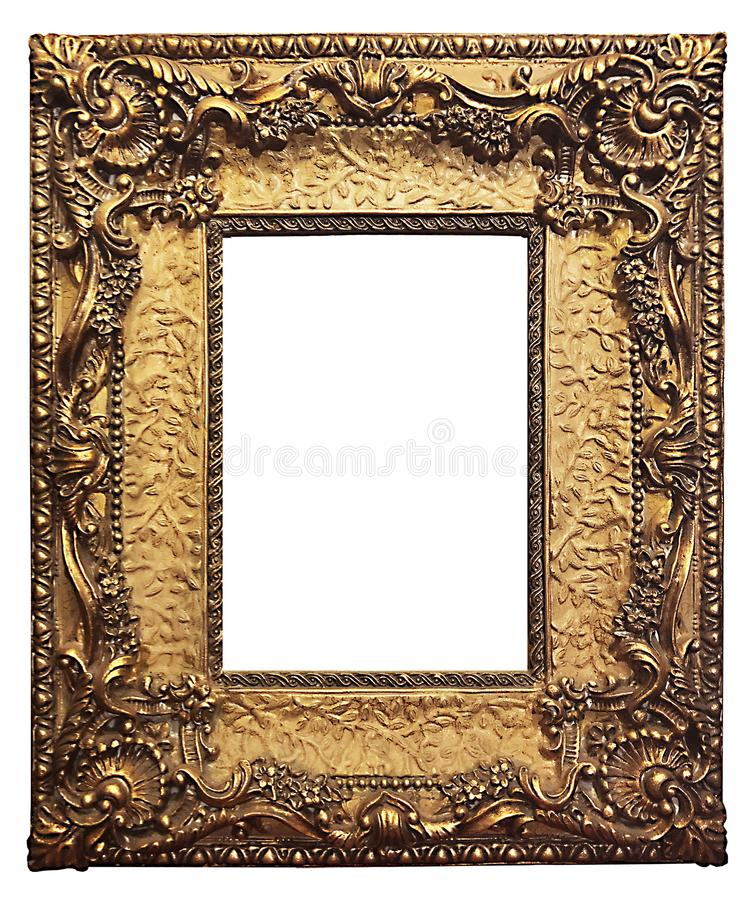 Gold-Guilded-Bilderrahmen lizenzfreie stockbilder