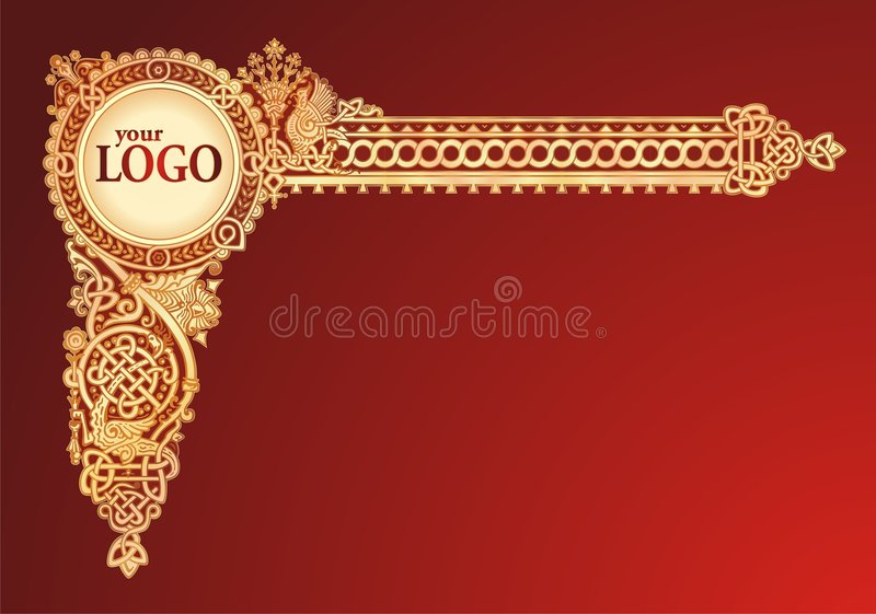 Gold header stock illustration