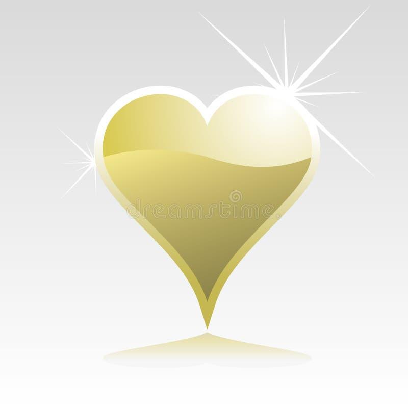 Gold heart stock illustration