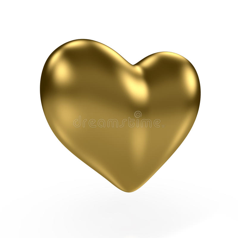 Gold heart vector illustration