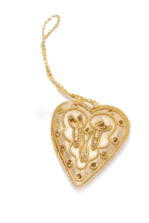 Download Gold heart stock image. Image of marriage, abstract, design - 4421321