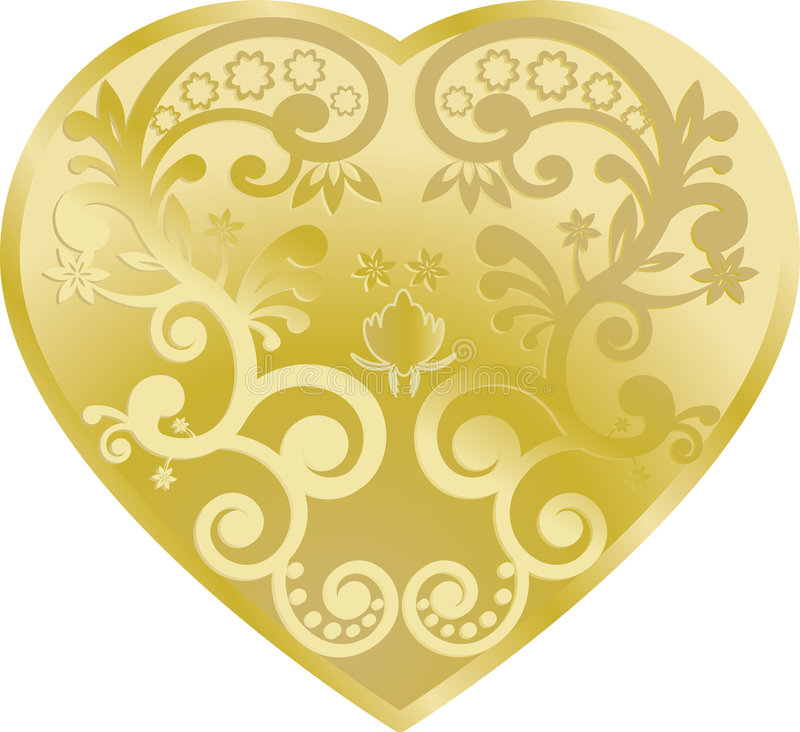 Free Gold Heart Royalty Free Stock Photography - 8738917