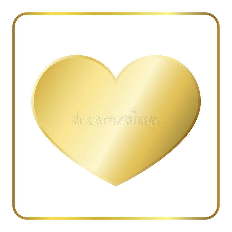 Gold heart metal royalty free illustration