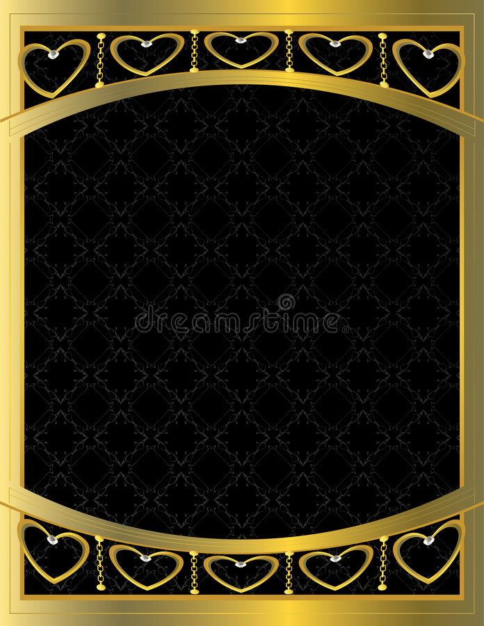 Gold heart patterned background 10 royalty free illustration