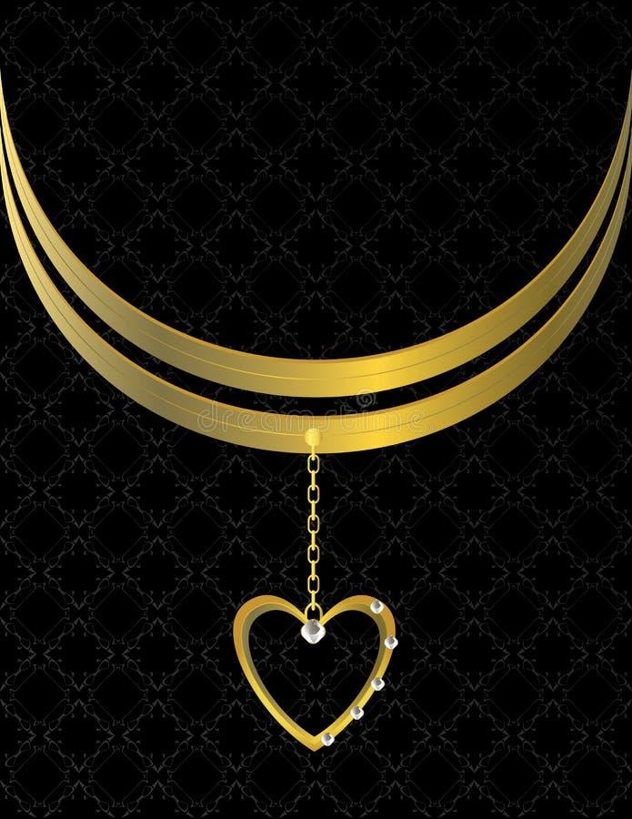 Gold heart patterned background 6 vector illustration