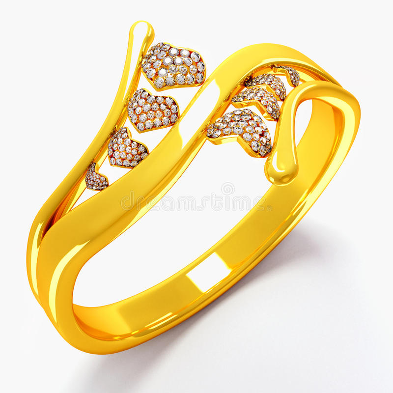 Download Gold Heart Ring stock illustration. Image of anniversary - 25041134
