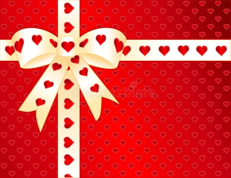 gold hearts red satin vektor illustrationer