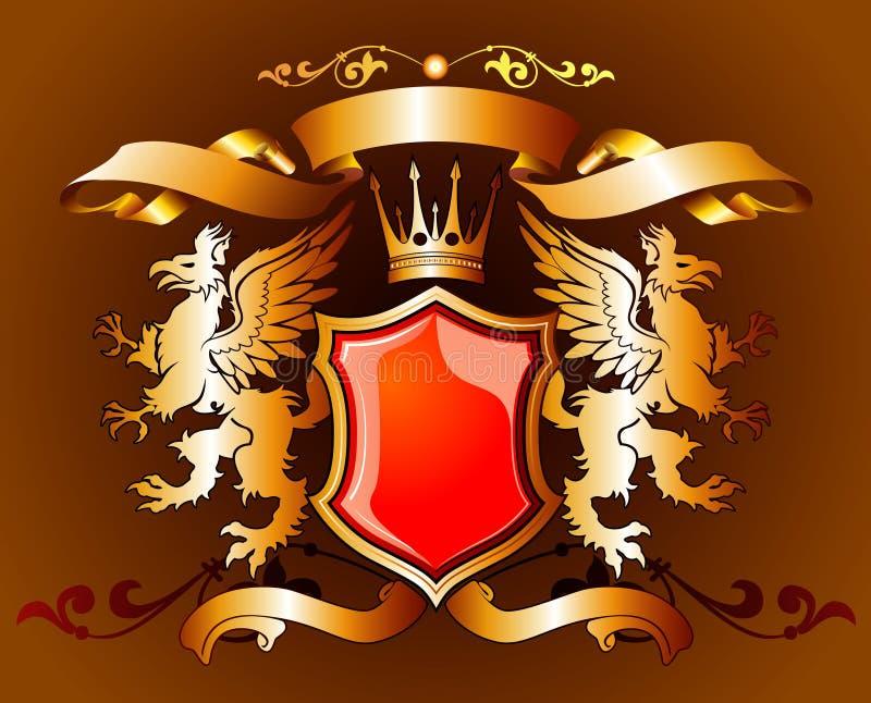 gold heraldic бесплатная иллюстрация