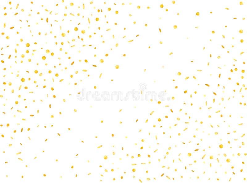 Gold hexagonal 3d confetti abstract vector illustration
