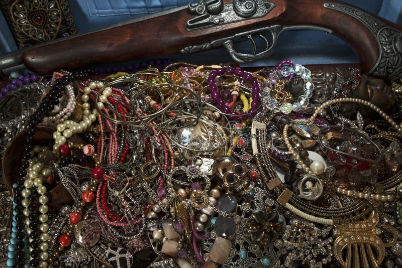 Gold, hidden treasures royalty free stock photo