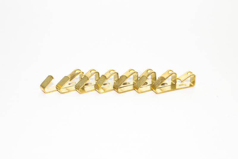 Gold hook. S on white background royalty free stock photography