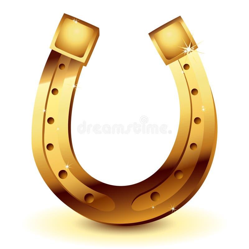 Free Gold Horseshoe Royalty Free Stock Photos - 13265498