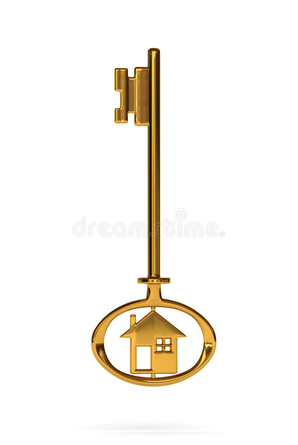 Download Gold house key stock illustration. Image of business - 11991636