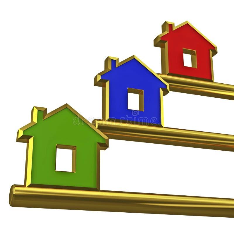 Gold house key stock illustration Illustration of estate 5353839
