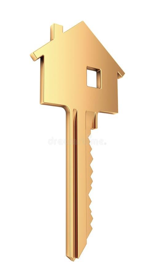 Gold House Key stock illustration Illustration of image 51056007