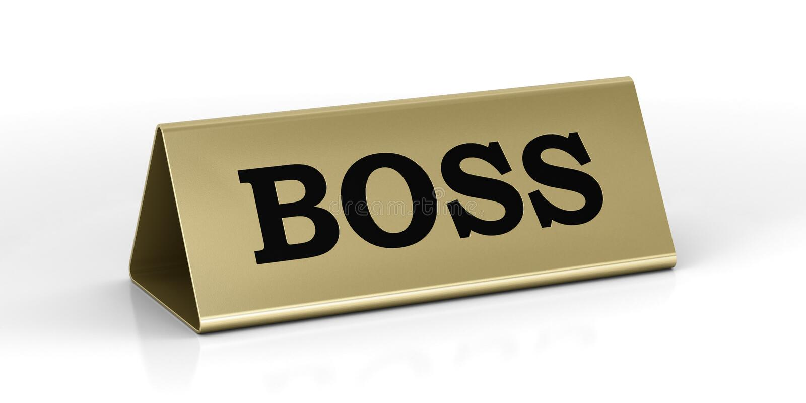 Download Gold Identification Plate Of The Boss Position Stock Illustration - Image: 24219991