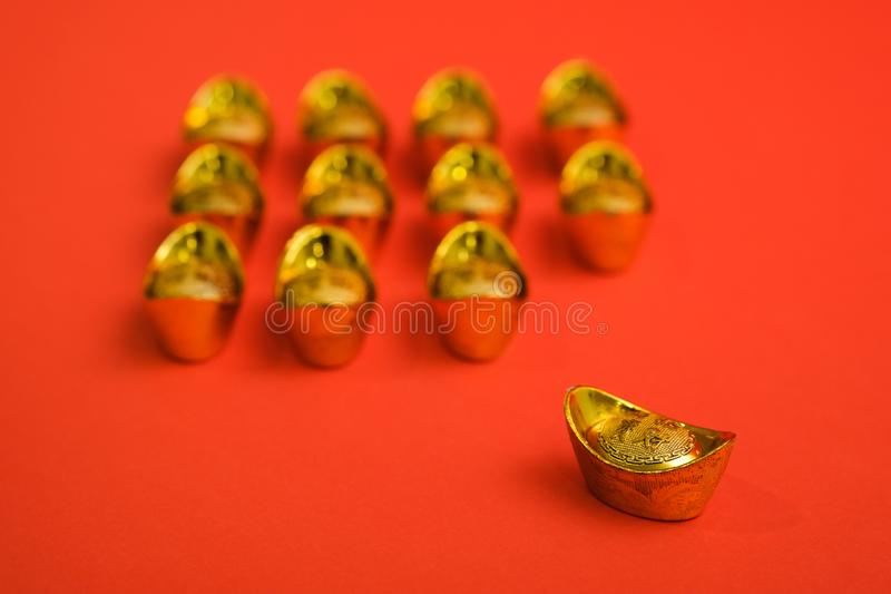 Gold Ingot for Chinese New Year royalty free stock photo
