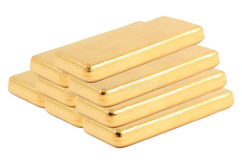 Gold ingot. Real photo stock image