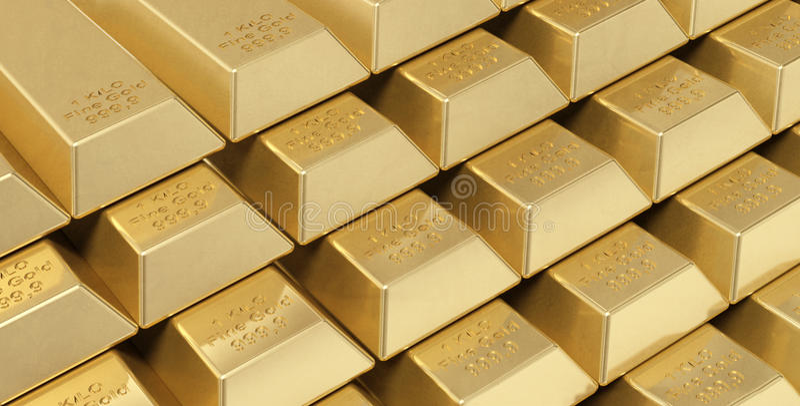 Download Gold ingots stock illustration. Illustration of gold - 15666930
