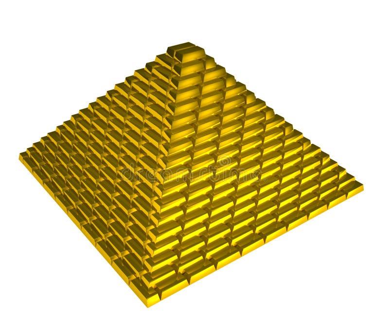 Download Gold ingots pyramid stock illustration. Image of market - 18684510