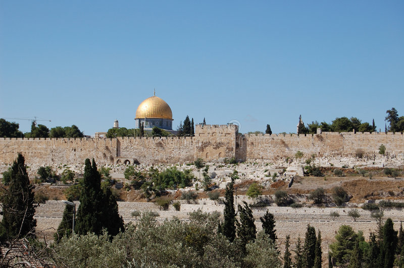 Gold Jerusalem stock photo