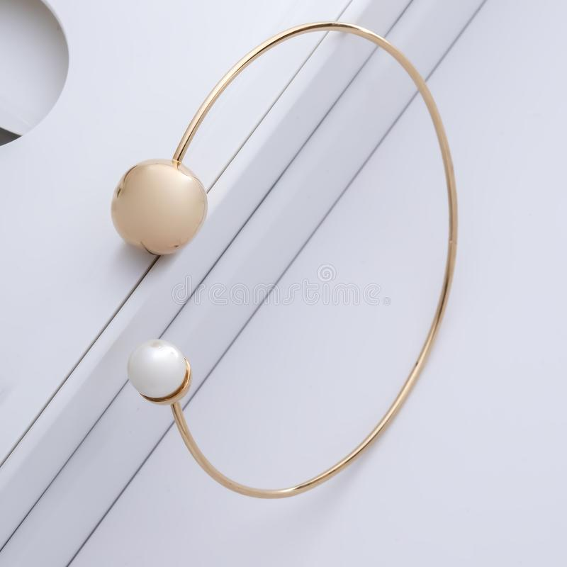 Gold accessories for beauty women stock images