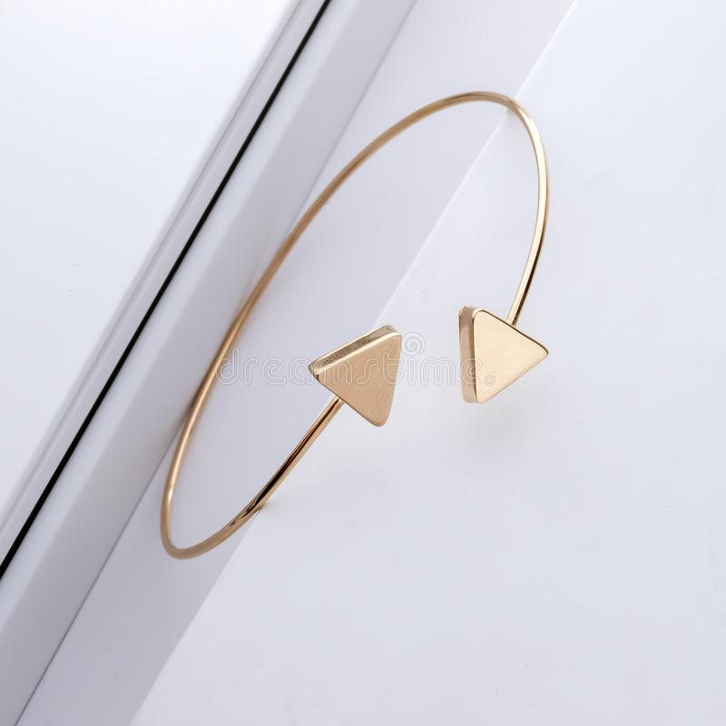 Gold accessories for beauty women stock photography