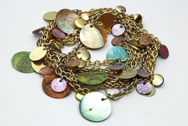 Gold jewelery chain stock photo