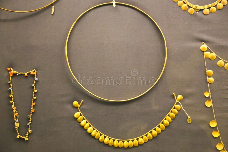 Gold Jewellery From Douch Treasure Egyptian Museum Editorial
