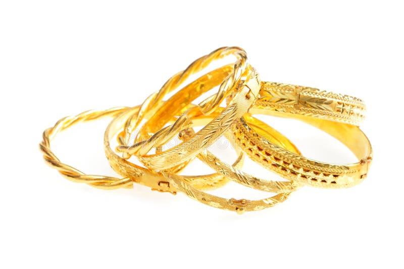 Gold jewelry stock photos