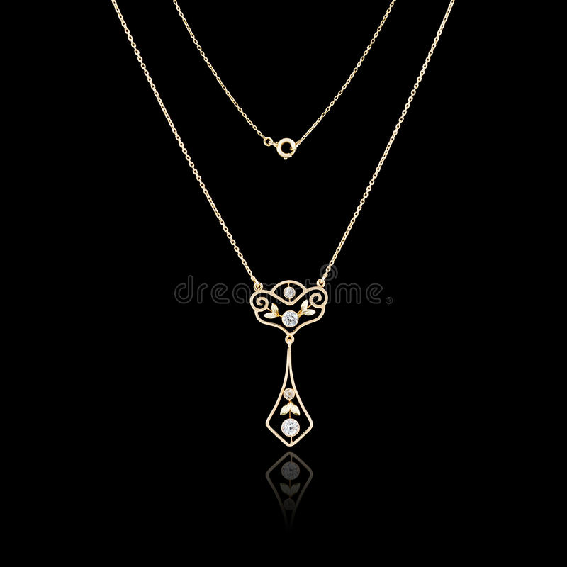 Gold Necklace Stock Images - Download 38,424 Royalty Free Photos