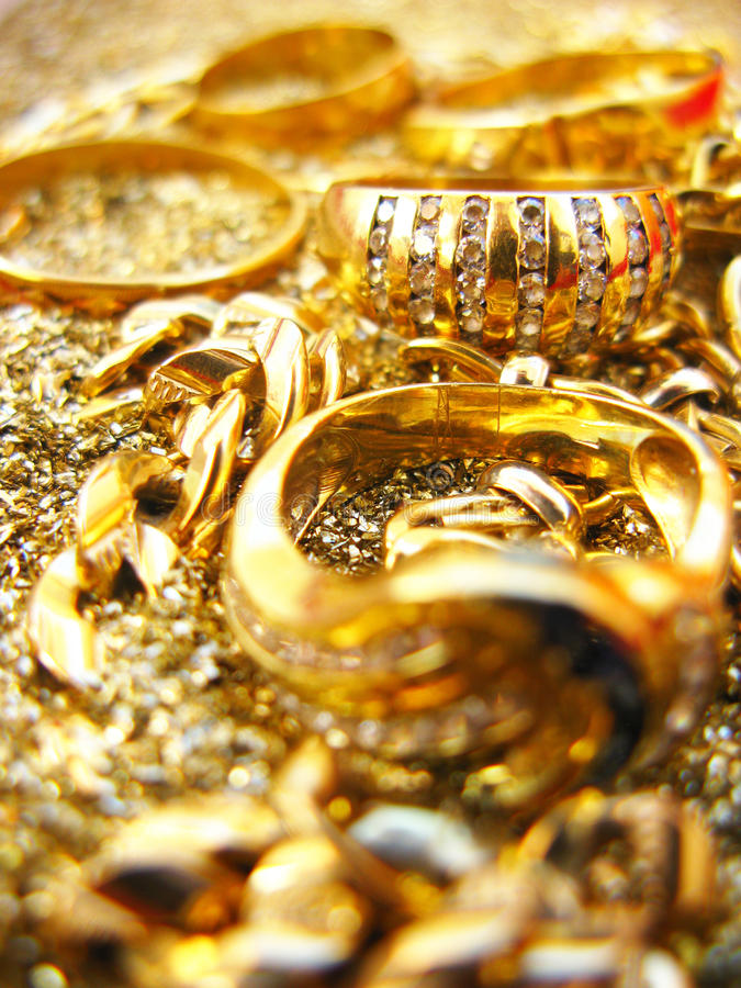 Free Gold Jewels Royalty Free Stock Photo - 12233265