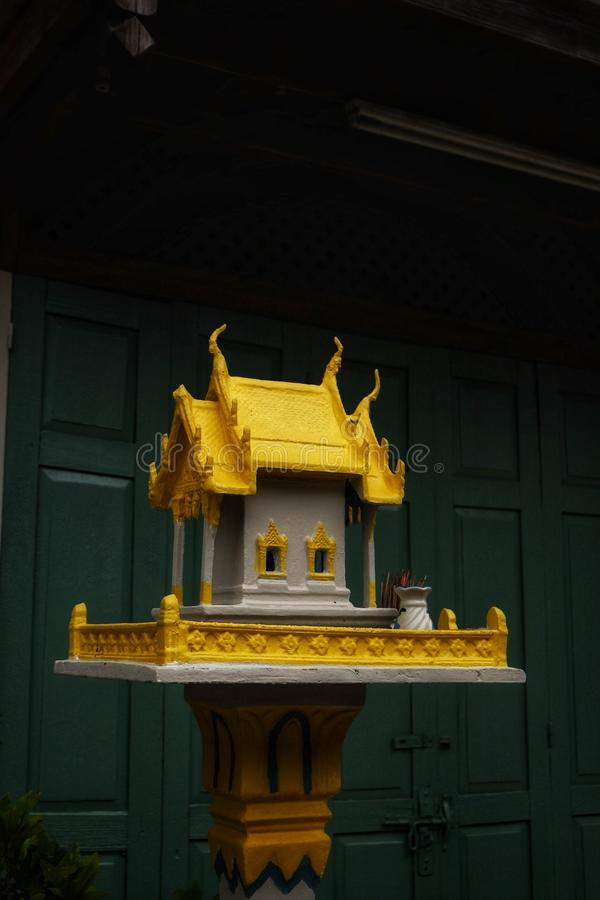 Gold Joss house Thailand stock images