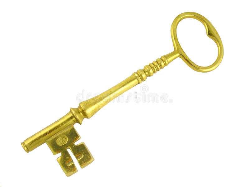 Download Gold key stock image. Image of locksmith, access, ornament - 676171