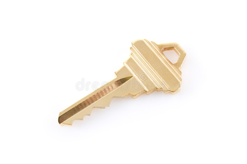 Gold key stock photo