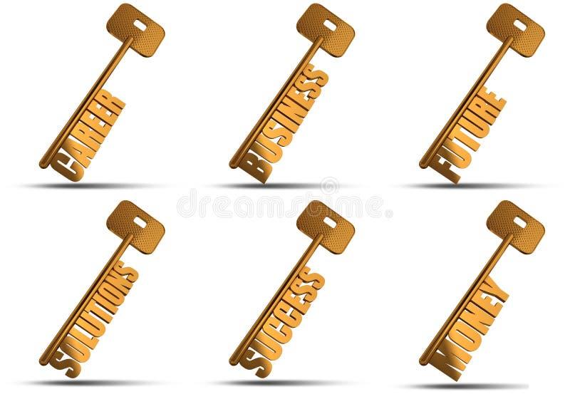 Download Gold key set stock illustration. Illustration of nobody - 24262919