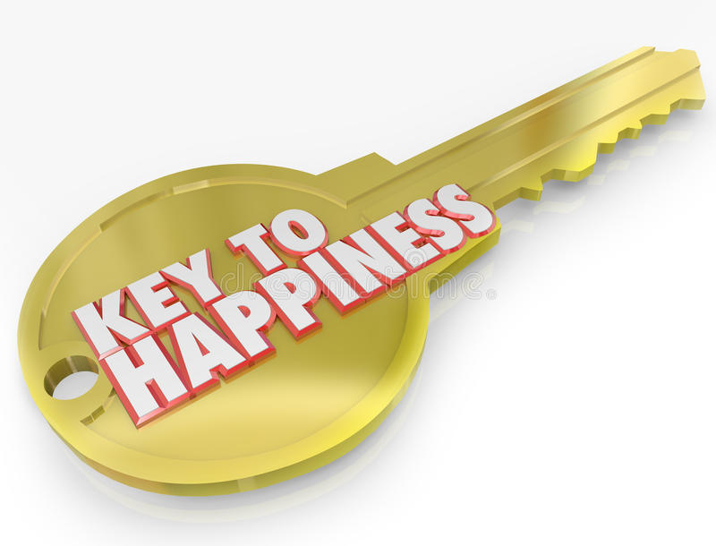 Download Gold Key To Happiness Golden Secret Of Success Stock Illustration - Image: 31479184