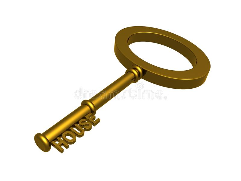 Download Gold key to a house stock illustration. Image of illustration - 20069089