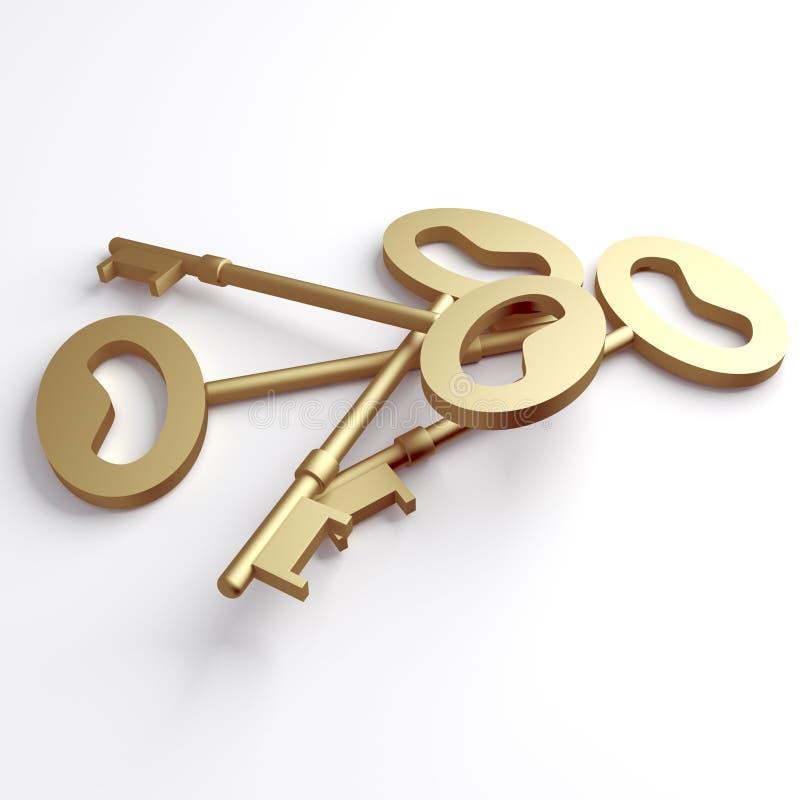 Gold Keys Royalty Free Stock Photo