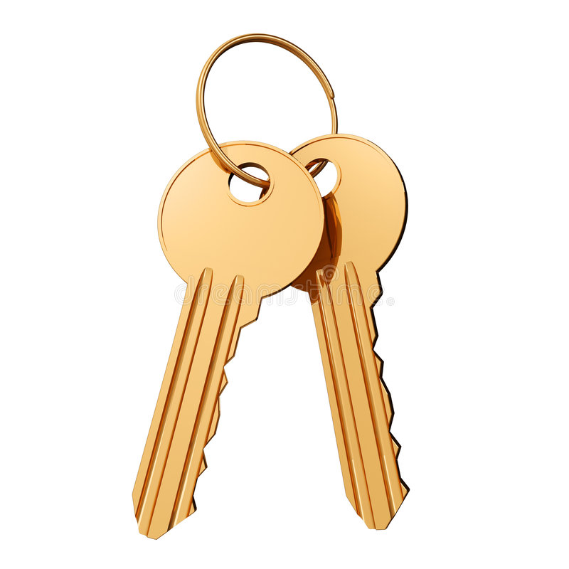 Download Gold keys stock illustration. Image of hoop, ring, accessibility - 8794532