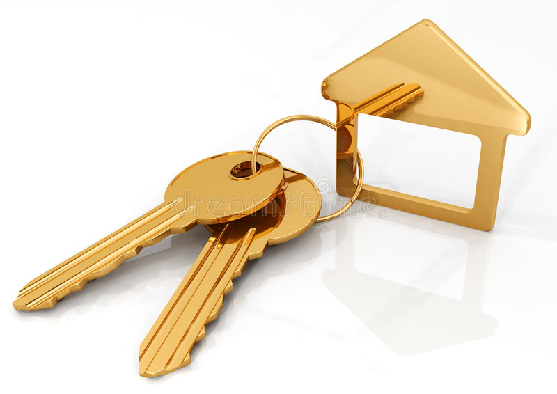 Download Gold keys stock illustration. Image of house, symbol, success - 8864944