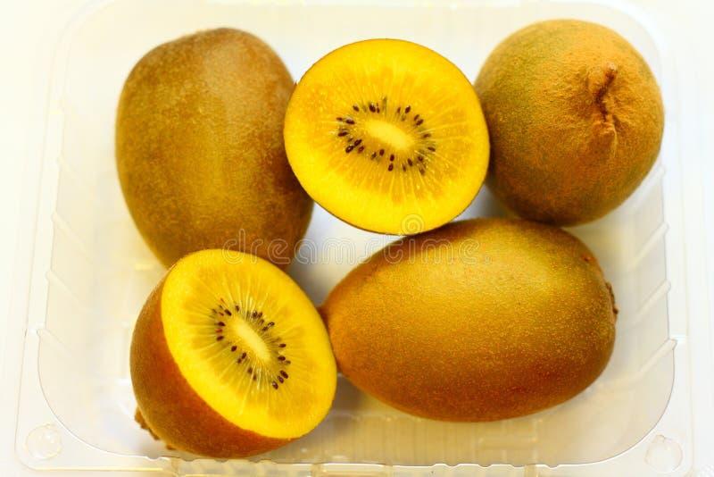 Gold Kiwi Fruits stock photos