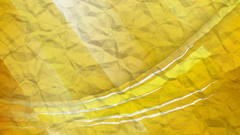 Gold knitterte schönen eleganten Papierhintergrund Entwurf der grafischen Kunst der Illustration stock abbildung