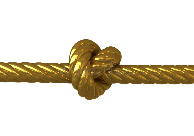 Gold Knot Royalty Free Stock Image