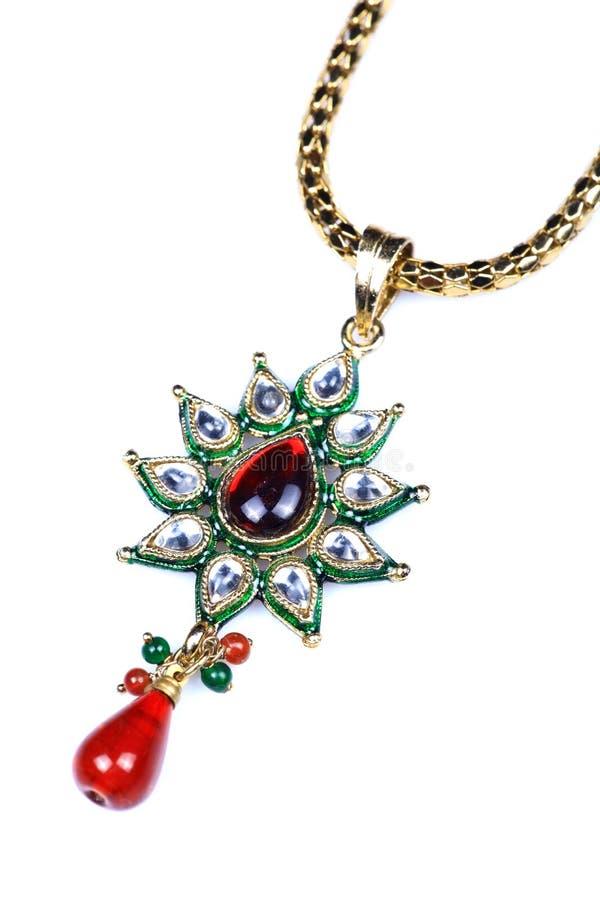 Gold kundan pendant