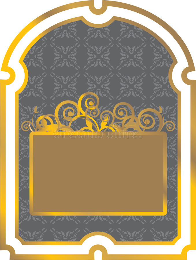 Download Gold label stock vector. Image of heart, vintage, border - 24450795